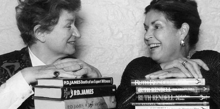 PD James with Ruth Rendell in 1993